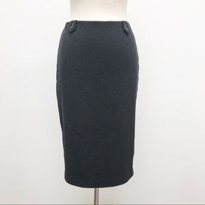 J Crew Wool Pencil Skirt - With Teal Contrast - 6